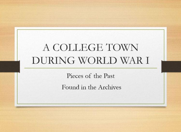 WORLD WAR I 4-6 Final